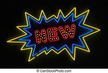 neu , neon zeichen