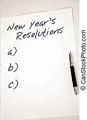neu , resolutions, leerer , jahr