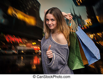 neu , shoppen, york, stadt