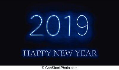 neu , year., 2019, glücklich