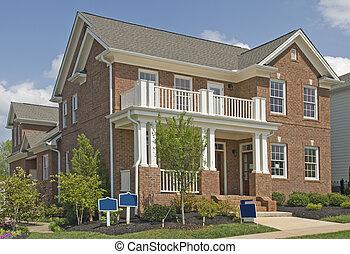 neu , zwei geschichte, luxuriöses heim, verkauf