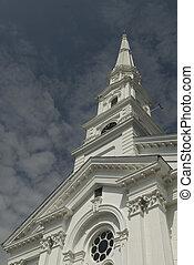 neuengland, turmspitze, kirche