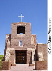 neues mexiko, adobe, kirche