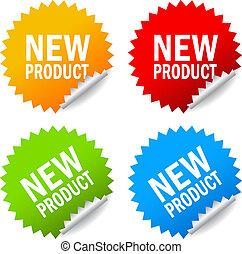 neues produkt, aufkleber