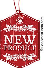 neues produkt, etikett