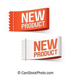neues produkt, etiketten