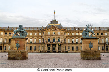Neues Schloss (New Castle) in Stuttgart, Germany