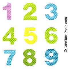 neuf, nombres, une