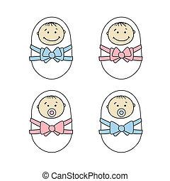 neugeborene, babys