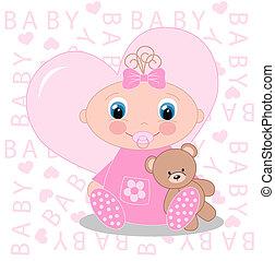 neugeborenes baby, ankündigung