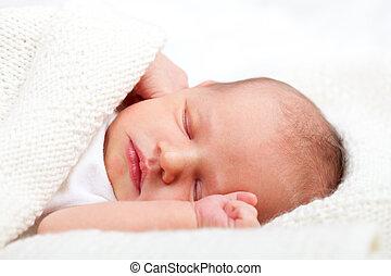 neugeborenes baby, eingeschlafen