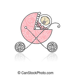 neugeborenes, design, kinderwagen, babys, dein
