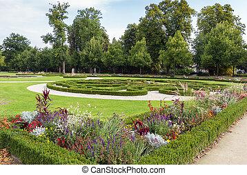 Neuhaus Castle park in Paderborn, Germany - park around the...
