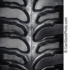 neumático, disco, fondo., rueda, neumáticos, suave, coche, textura, caucho, negro, pattern.