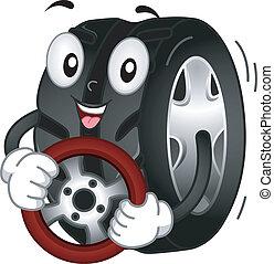 neumático, mascota