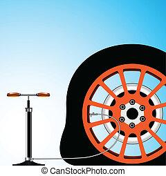 neumático plano