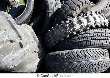 neumáticos, neumáticos, ecología, industria, ambiente, vehículo, reciclar