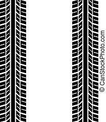 neumáticos, seamless, rastro
