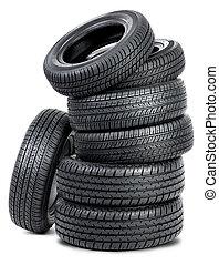 neumáticos, siete