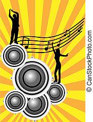 neurč. člen, abstraktní, hudební, ilustrace