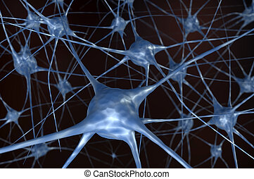Neural network in black background
