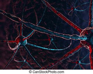 Neural network on a dark blue background.