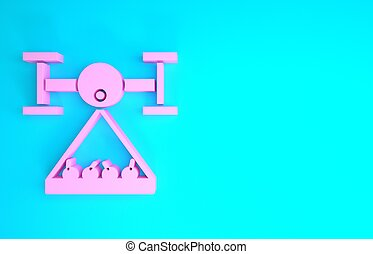 neuriën, blauwe , render, minimalism, achtergrond., collects, controle, roze, technologie, company., smart, vrijstaand, concept., landbouwkundig, pictogram, illustratie, boerderij, innovatie, oogsten, 3d