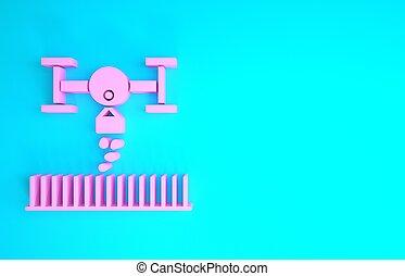 neuriën, blauwe , render, zaad, minimalism, achtergrond., controle, roze, aanplant, technologie, company., smart, vrijstaand, concept., landbouwkundig, pictogram, illustratie, boerderij, innovatie, 3d