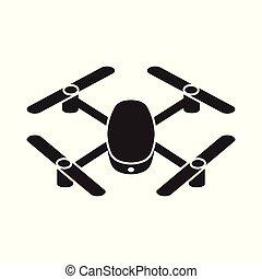 neuriën, quadcopter, pictogram, vector