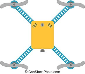 neuriën, quadcopter, vector, vrijstaand