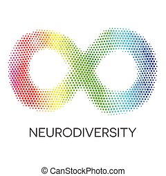 neurodiversity, シンボル。, 虹, 無限点, loop.