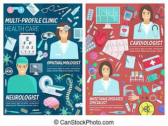neurologen, oftalmolog, medicinsk, diagnostiskt