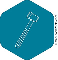 Neurological hammer icon, outline style
