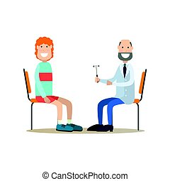Neurologist concept vector illustration in flat style -...