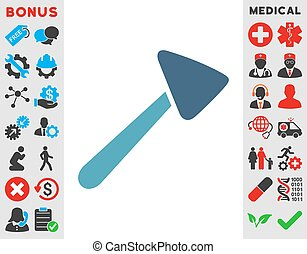 Neurologist Hammer Icon - Neurologist Hammer vector icon....