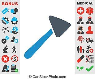 Neurologist Hammer Icon - Neurologist Hammer vector icon....