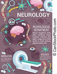 Neurology disease diagnostic clinic banner design -...