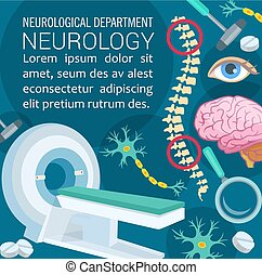 Neurology disease diagnostic clinic poster design -...