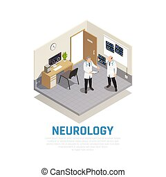 Neurology Isometric Composition