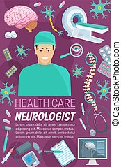 Neurology medicine doctor and medical items - Neurology...