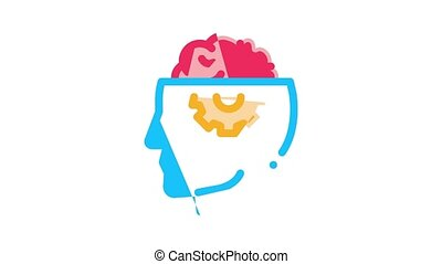 Neurology Medicine Icon Animation Neurology Equipment And Neurologist, Brain And Nervous System, Nerves And Files
