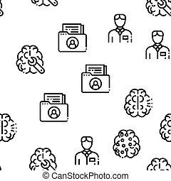Neurology Medicine Seamless Pattern Vector
