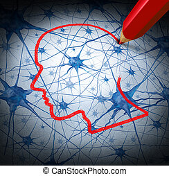Neurology Research - Neurology research concept examining...