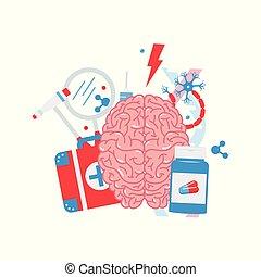 Neurology vector concept