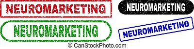 NEUROMARKETING Rectangle Stamp Seals with Scratched Surface