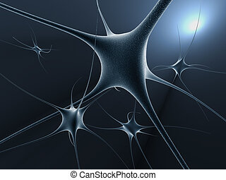 Neuron cells - 3d rendered illustration of neuron cells...