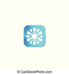 neuron vector logo for apps