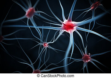 Neurons abstract background