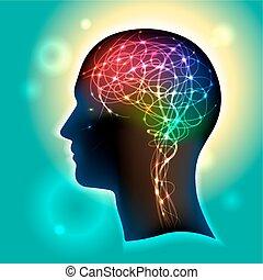 neurons, ind, den, hjerne