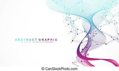 neurons., wissenschaft, banner., visualization., -, ...